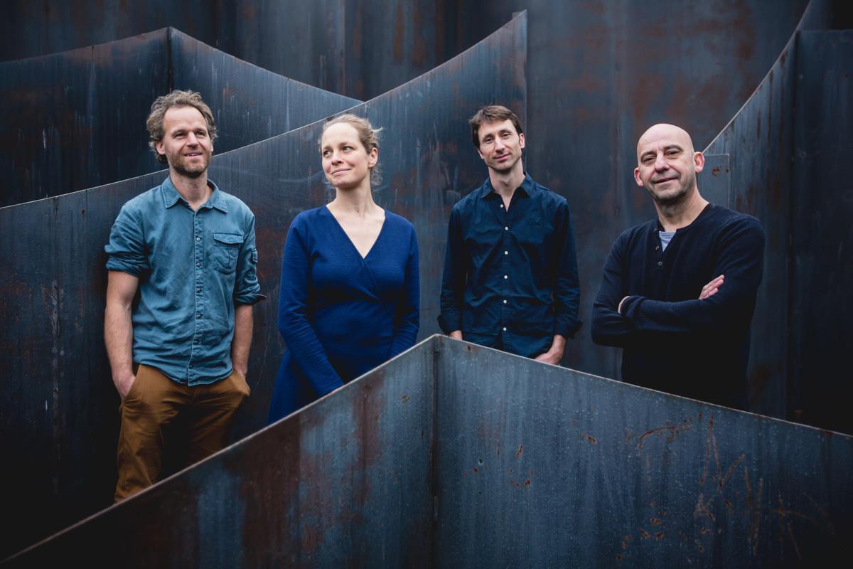 Naragonia Quartet met rechts: Luc Pilartz